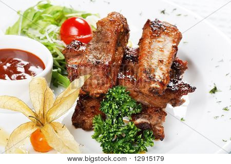grilled ribs