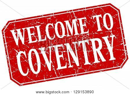 welcome to Coventry red square grunge stamp