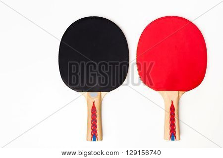 two Table Tennis Racket isolated on white