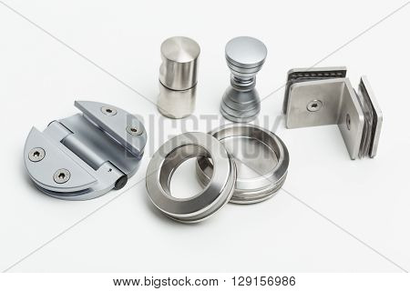 Doors and accessories - Industrial. Isolated on white.