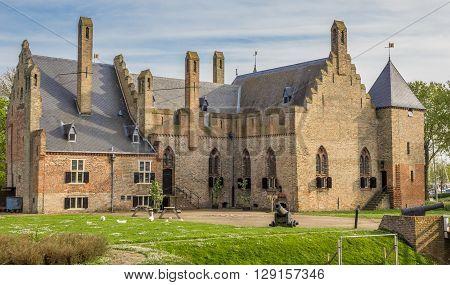 Historical castle Radboud in Medemblik The Netherlands