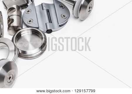 Doors and accessories - Industrial. isolated on white