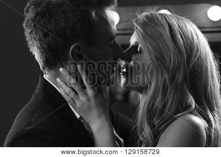 Attractive Kissing Couple