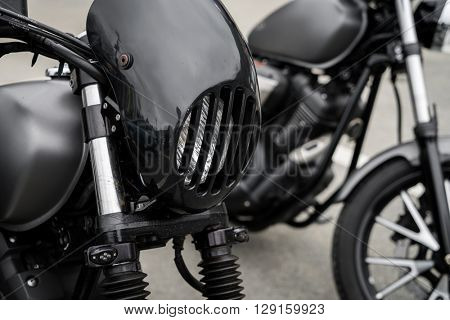 Close up of vintage Motorcycle