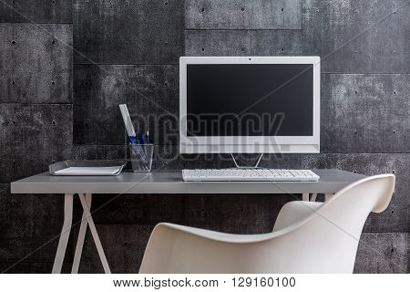 Post Industrial Style Of Modern Workspace