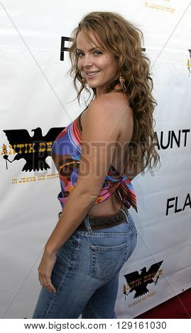 Mishel Thorpe at the Flaunt Magazine Hosts Antik Denim's Party at the Antik on Melrose Hollywood, USA on August 18, 2005.