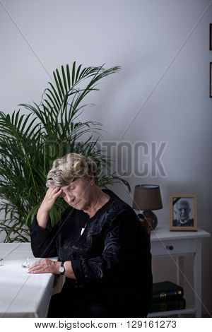 Elderly Widowed Lady