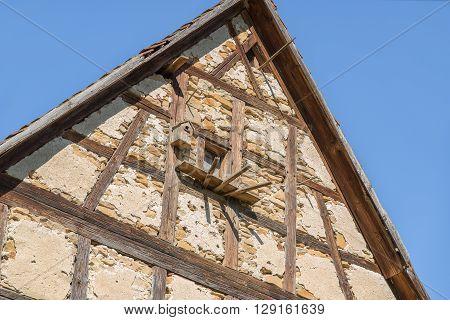 architectural detail at a village in Hohenlohe named Baechlingen