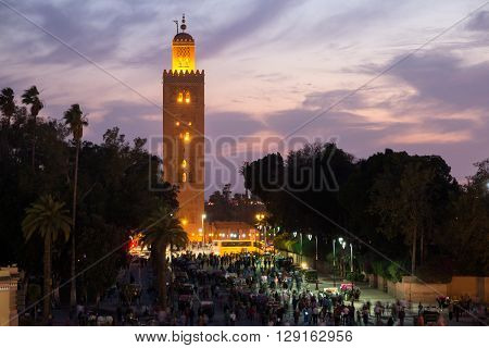 Sunset view on the Koutoubia mosque Marrakech Morocco ** Note: Soft Focus at 100%, best at smaller sizes