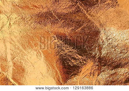 Bronze color foil texture attached with fabric