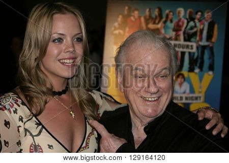 Erin Torpey and Charles Durning at the World premiere of