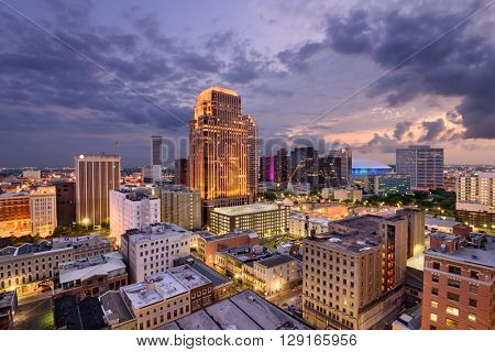 New Orleans, Luisiana, USA Central Business District skyline.