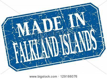 made in Falkland Islands blue square grunge stamp