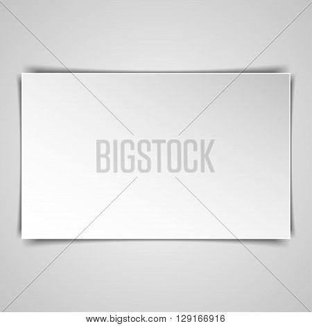 Blank rectangle hardcover album template on white background. Vector illustration.