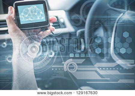 Technology interface against man using satellite navigation system