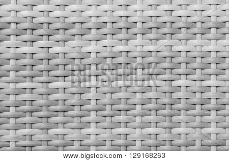 Closeup wood weave bag texture background in black and white tone