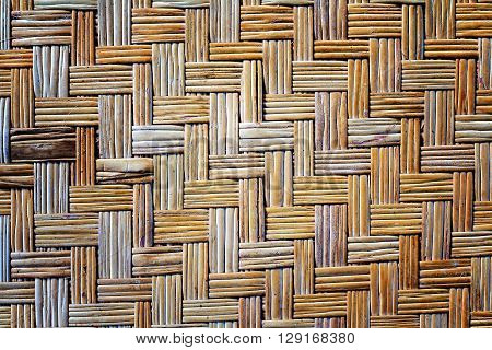 Old Bamboo Weave Mat Texture And Background