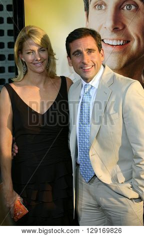 Nancy Walls and Steve Carell at the Los Angeles premiere of
