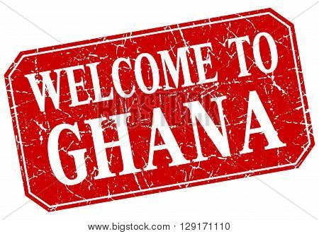 welcome to Ghana red square grunge stamp
