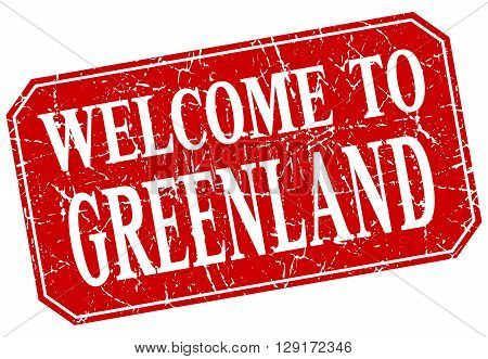 welcome to Greenland red square grunge stamp