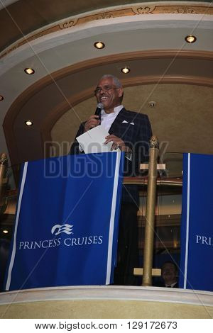 LOS ANGELES - JAN 24:  Arnold Donald at the Launch of SHARE Resturant at the Princess Cruise Ruby Princess at the Los Angeles World Cruise Center  on January 24, 2016 in San Pedro, CA