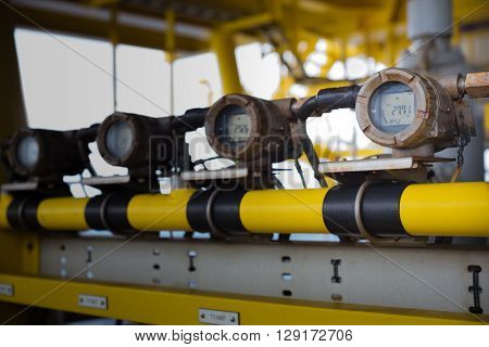 temperature transmitter in oil and gas platform for monitor and control well temperature