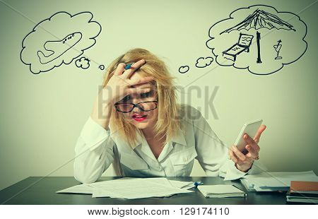busy business close up woman having troubles