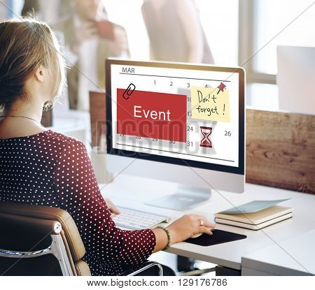 Event Schedule Occasion Planner Reminder Concept