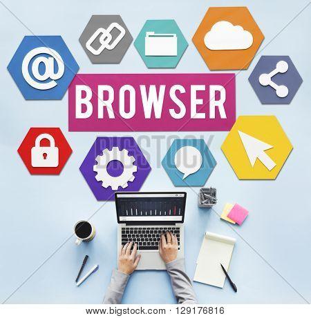 Browser Internet Software Information Webpage Concept