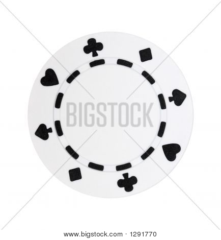 White Poker Chip