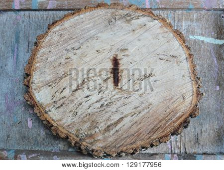 tamarind wood cut for made chopping block