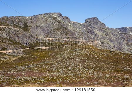 Serra da Estrela mountain view in Portugal