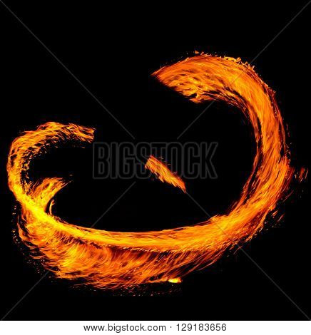 Flaming Trails Human Torch