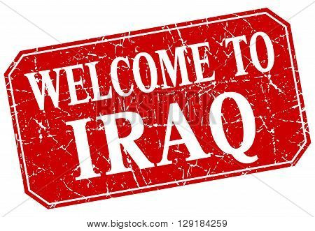 welcome to Iraq red square grunge stamp