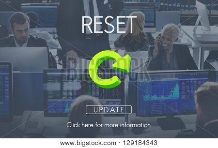 Reset Restart Back Beginning Concept