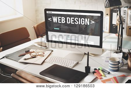 Web Design Internet Website Responsive Software Concept