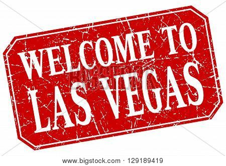 welcome to Las Vegas red square grunge stamp