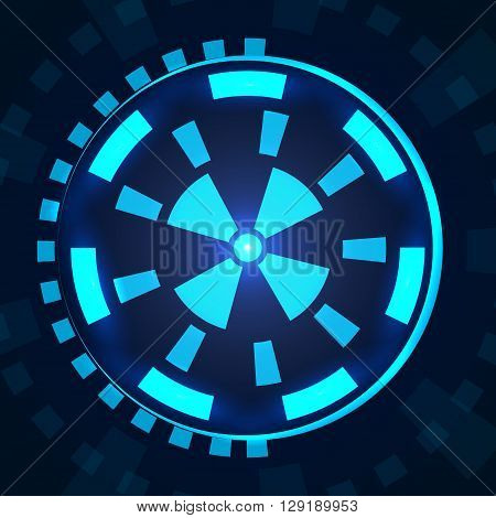 Sci fi futuristic user interface HUD. Vector illustration EPS 10
