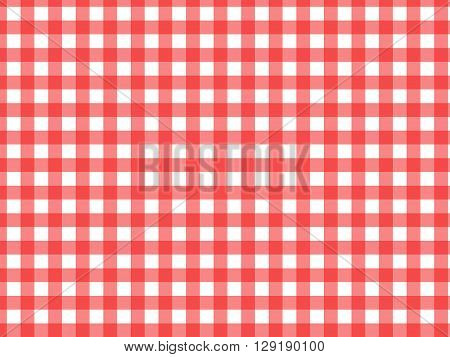 a red and white checkered tablecloth texture