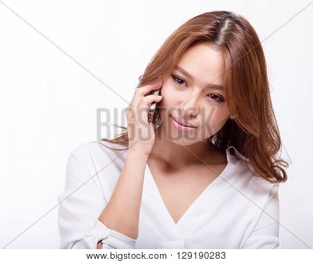 Asian Woman On Cellphone