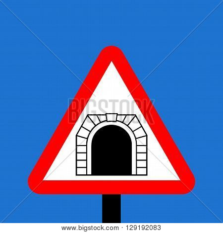 An illustration of a Warning triangle tunnel sign