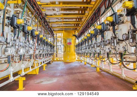 actuated ball valve drive by instrument gas at oil and gas field