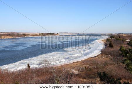 Bahía congelada