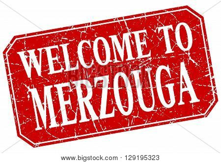 welcome to Merzouga red square grunge stamp