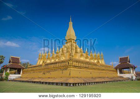 Laos, Wat Pra That at Laos Worship