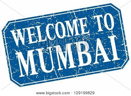 welcome to Mumbai blue square grunge stamp