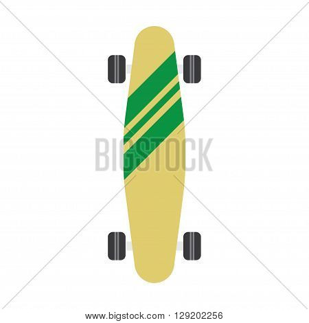 skateboard flat icon. vector illustration. Flat icon isolated on a white background