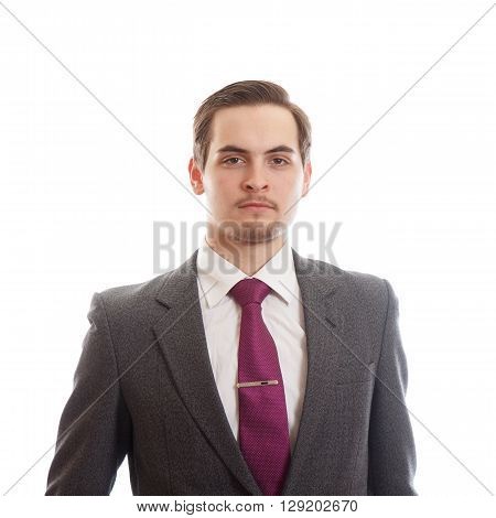 A well dressed young adult on white background