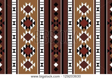 Brown Theme Middle Eastern Rug Pattern From The Arabian Gulf Region