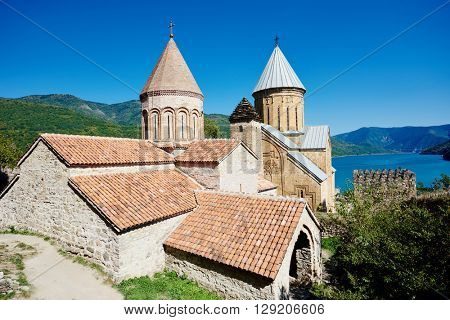 Ananuri ancient church castle in georgia